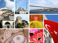 Landmark collage of Istanbul, Turkey Stock Photography