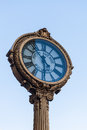 Landmark fifth avenue cast iron sidewalk clock new york city ny aug in manhattan on aug this historic in the flatiron Stock Photos