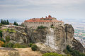 Landmark of thessaly st stephen s monastery is located on the top the rock but it is the most comfortable to visit monastery Royalty Free Stock Images