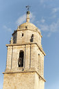 Landmark on the way of st james view steeple church santa maria del manzano located in castrojeriz place interest spain Stock Photo