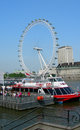 Landmark wheel in london the eye united kingdom Royalty Free Stock Photography