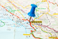 Landmarks on map of Croatia: Sibenik Royalty Free Stock Photo