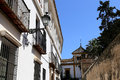 Landmarks in the old historical center of seville is protected by unesco andalusia southern spain Stock Photos