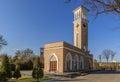 Landmarks of tashkent old chimes at sunset uzbekistan central asia Royalty Free Stock Images