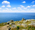Lands end in cornwall england uk Royalty Free Stock Photography