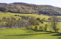 Landscape of aberfeldy area in scottish highlands view sunny day Stock Images