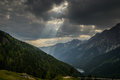 Landscape alpine in the austrian alps sankt jakob in defereggen Royalty Free Stock Photo