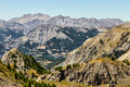 Landscape in alps beautiful at high altitude the southern french Stock Photos