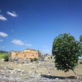 Landscape with ancient ruins in Turkey Stock Image