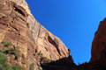Landscape of Angel`s landing trail, Zion National Park Royalty Free Stock Photo