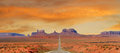 Landscape approaching Monument Valley in Utah Royalty Free Stock Photo