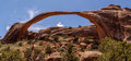 Landscape arch panoramic composition of arches national park utah usa Royalty Free Stock Photo