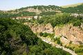 Landscape in armenian mountain city jermuk Royalty Free Stock Photos