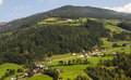 Landscape of austrian alps and the town zell am ziller Stock Photo
