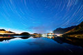 Landscape balea lake star trails night Stock Photos