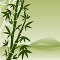 Landscape with bamboo vector japanese Royalty Free Stock Images