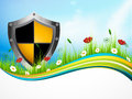 Landscape banner protect the nature vector illustration Royalty Free Stock Photography