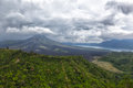 Landscape of Batur volcano on Bali Royalty Free Stock Photo
