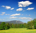 Landscape in Bavarian Forest Stock Images