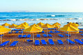 Landscape, beach on a Crete Stock Images