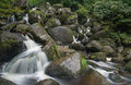 Landscape of becky falls waterfall in dartmoor national park eng england Stock Photography