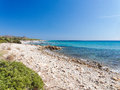 Landscape of Bidda Rosa beach Sardinia Italy Royalty Free Stock Photo