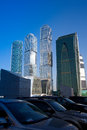 Landscape of the business district Moscow City Royalty Free Stock Photos