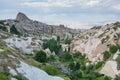 Landscape in Cappadocia, Turkey Royalty Free Stock Photo