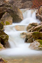 Landscape cascade waterfall mountain river Royalty Free Stock Photo