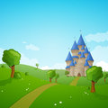 Landscape with a Castle Royalty Free Stock Photos