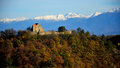 Landscape citadel transylvania cisnadioara michelsberg michaelsberg michelsdorf in sibiu conty Stock Photos