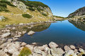 Landscape with Clean water in small Lake, Rila Mountain Royalty Free Stock Photo