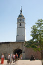 Landscape of Clock Tower at Belgrade Fortress Kalemegdan Royalty Free Stock Photo