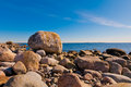 Landscape coast of the baltic sea Royalty Free Stock Image
