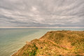 Landscape of the coast at cap gris nez france cloudy on cliffs in nord pas de calais Stock Image