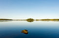 Landscape coast of the lake saimaa Royalty Free Stock Photo