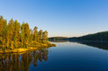 Landscape coast of the lake saimaa finland Royalty Free Stock Photography