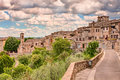 Landscape of colle di val d elsa tuscany italy the medieval town ancient village on the hill surrounded by countryside Royalty Free Stock Photos