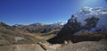 Landscape in cordiliera huayhuash panoramic views of alpine peru south america Stock Image