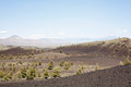 Landscape: Craters of the moon Royalty Free Stock Image