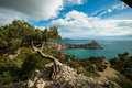 Landscape of Crimea seacoast Royalty Free Stock Photos