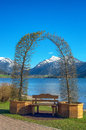 Landscape with decorative arch Royalty Free Stock Photo