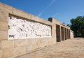 Landscape of entrance of cemetery to liberators of Belgrade, Serbia Royalty Free Stock Photo