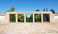 Landscape of entrance to cemetery to liberators of Belgrade, Serbia Royalty Free Stock Photo