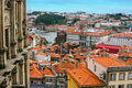 Landscape of famous old town in porto portugal beautiful view Stock Photos