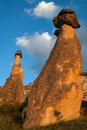 Landscape form of weathering of volcanic tuffs cappadocia turkey Royalty Free Stock Photography