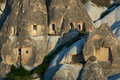 Landscape form of weathering of volcanic tuffs cappadocia turkey Royalty Free Stock Images