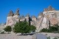 Landscape form of weathering of volcanic tuffs cappadocia turkey Stock Image
