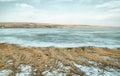 Landscape Of Frozen Lake