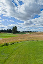 Landscape of a Golf Course Hole Royalty Free Stock Photo